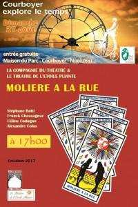 spectacle Molière à la rue par Le Théâtre de l'étoile pliante et la Compagnie du théâtre